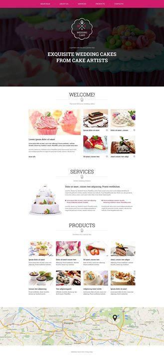 I like it how about you Wedding Cake Responsive Website Template