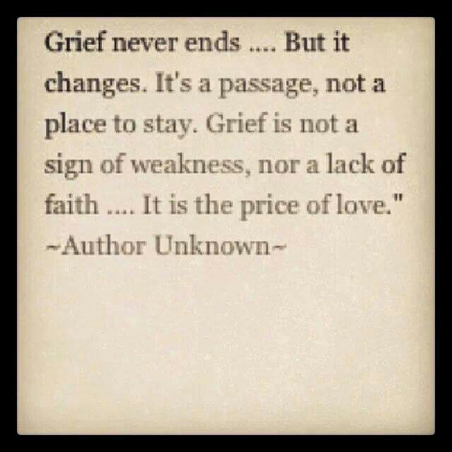 ... it is the price of love . .  #grief #loss #death