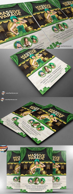 saint patrick s day massive parade flyer template adobe photoshop
