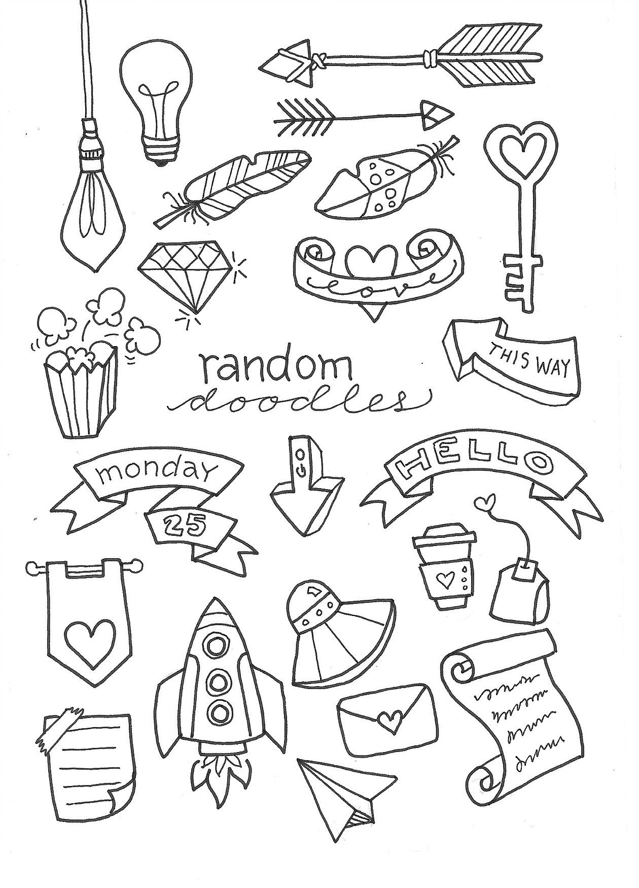 Random And Fun Doodles Perfect For Journaling