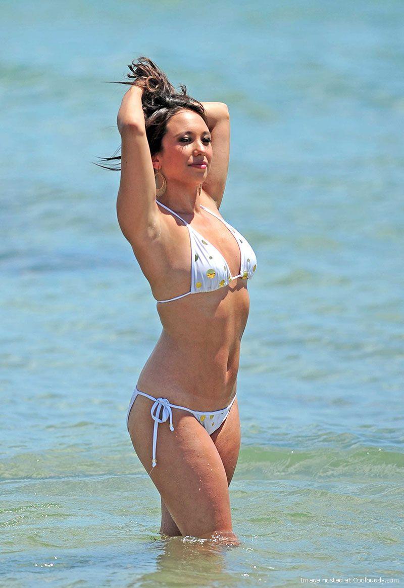 Cheryl Burke in a bikini on the beach in Ibiza, Spain ...