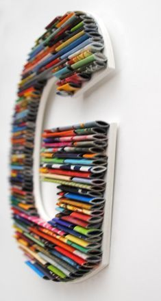 SMALL letters, numbers, symbols made with recycled magazines- colorful, unique, nursery decoration, alphabet, PLAY, fun, creative, modern