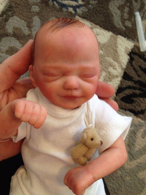 Tiny 10 Inch Mini Reborn Baby Boyzane Sculpt By Sweetpetitenursery 239 00 Kukla Reborn Kukly