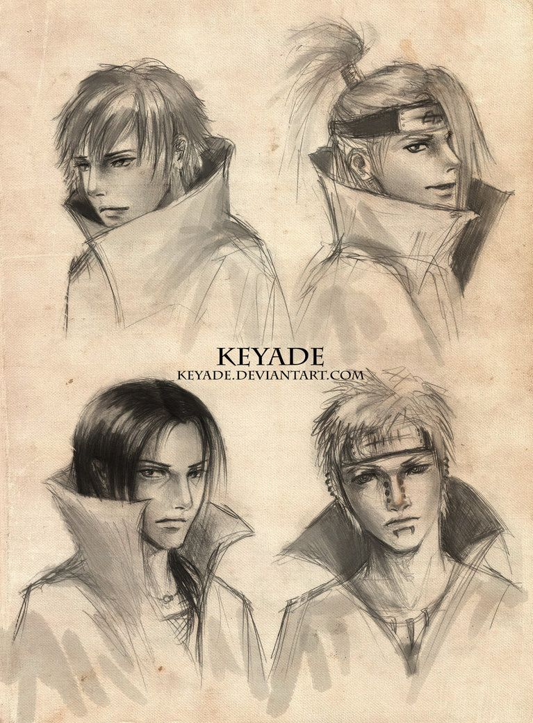 Akatsuki Sketches by Keyade---on Deviant Art---This artist's work is incredible. I'll be pinning a lot of it here in a moment.