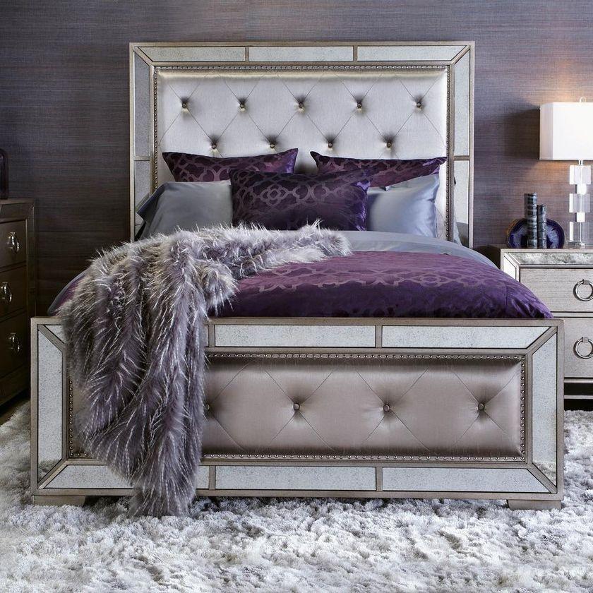 Schlafzimmer Dekoration Hochzeitsnacht Champagne Bedroom Silver