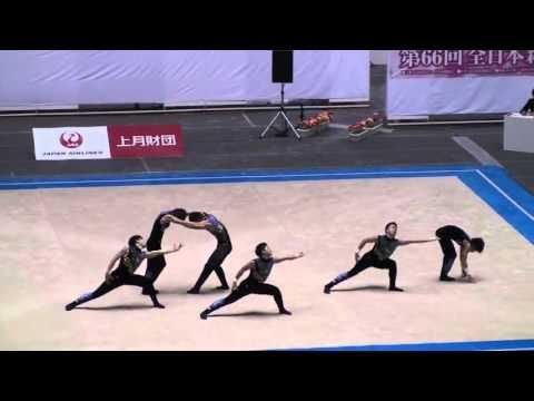 Amazing Gymnastics This Is A Group Of Men Rg In Japan Amazing Gymnastics Gymnastics Gymnastics Routines