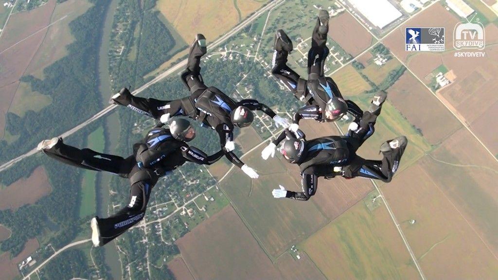 4 Way 2016 Fai World Parachuting Championships Mondial Paragear Wpc2016 Fai Uspa Skydivetv Skydivechicago Skydiv Skydiving Skydive Chicago Parachute