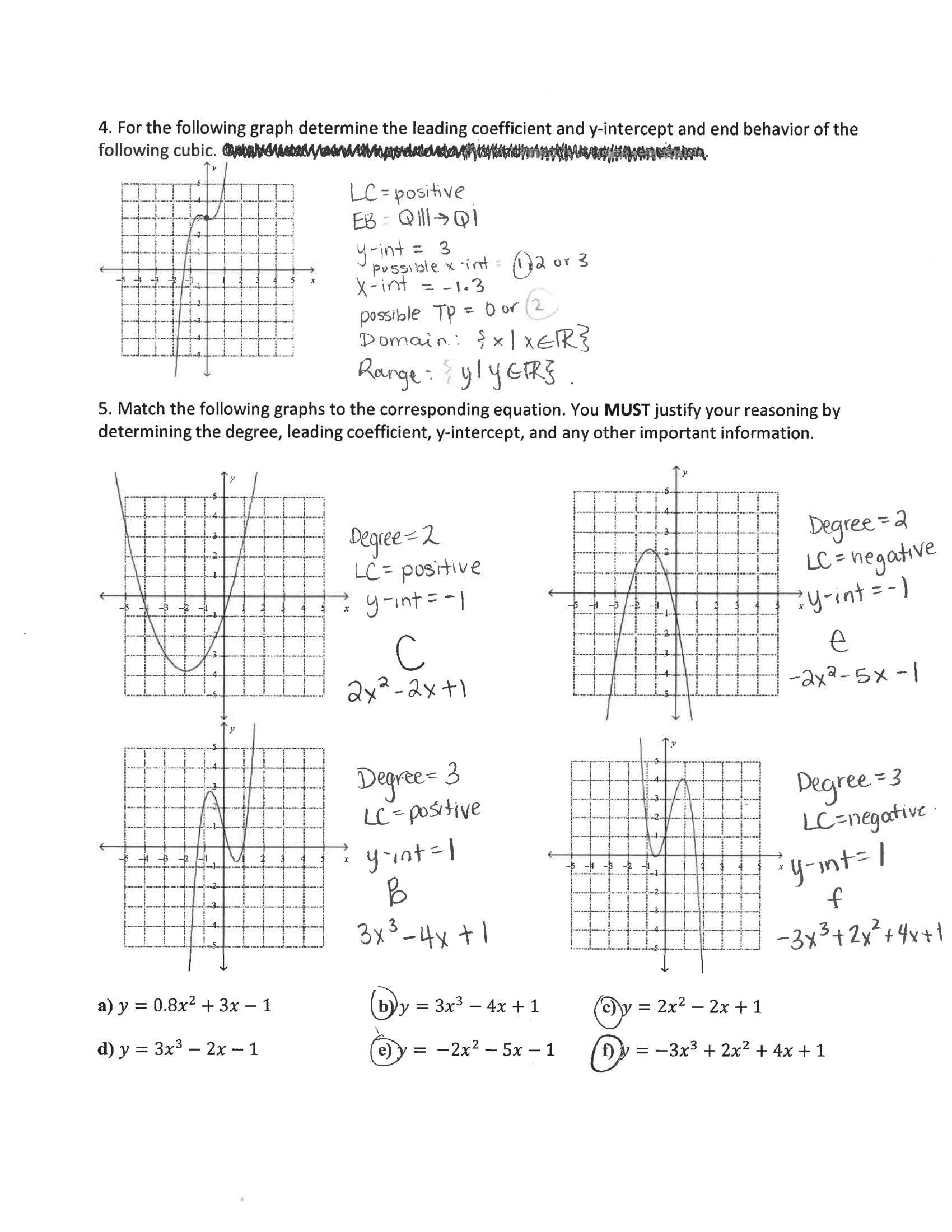 Polynomial End Behavior Worksheet Worksheet Answers 051 In 2020 Polynomials Worksheets Time Worksheets