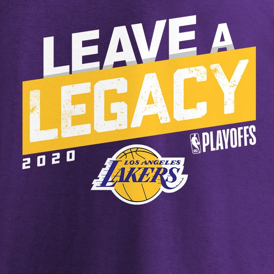 Los Angeles Lakers Fanatics Branded 2020 Nba Playoffs Bound Iso Slogan T Shirt Purple In 2020 Lakers Nba Playoffs Los Angeles Lakers