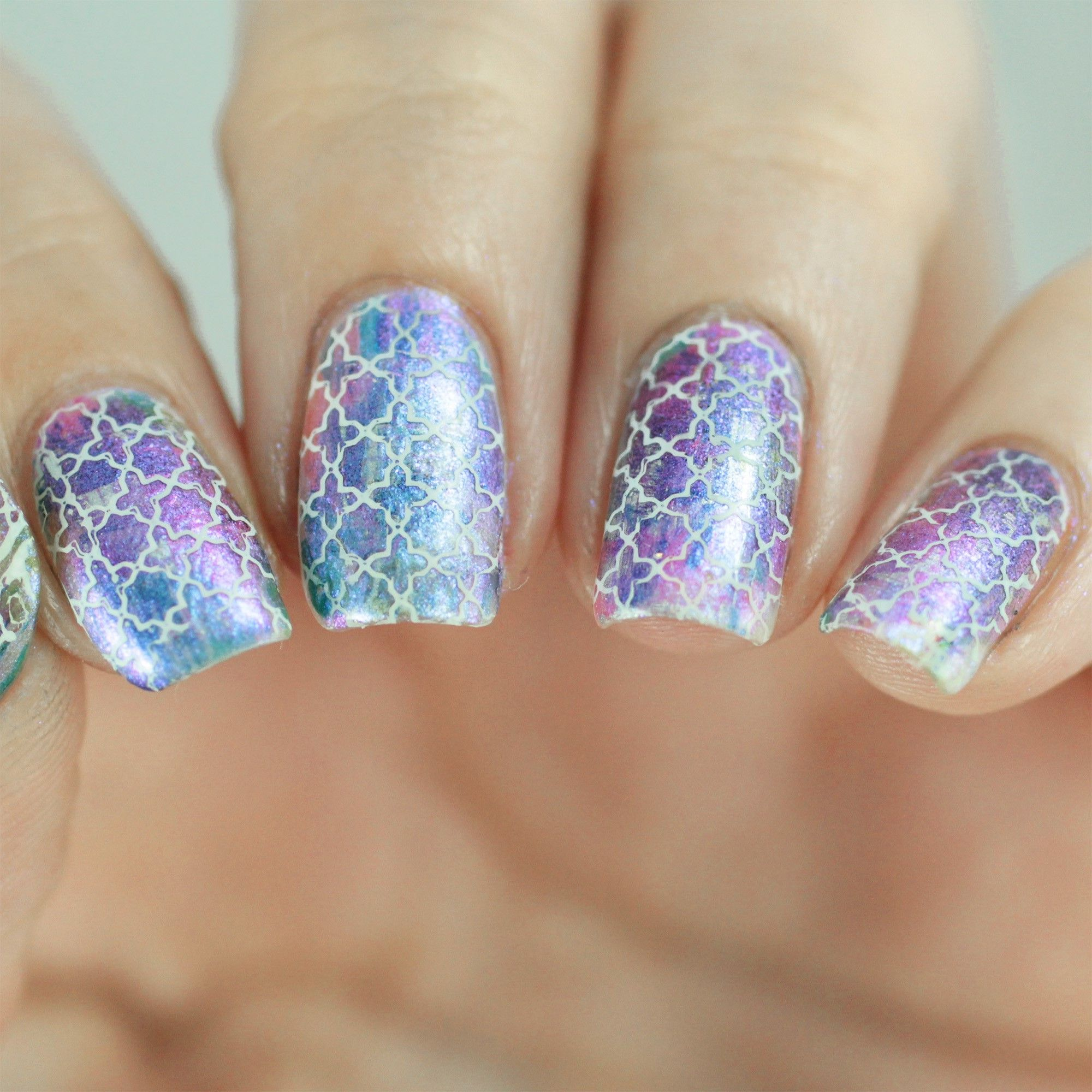 Glaring at this beauty of a mani thanks to @copycatclaws   Click to ...