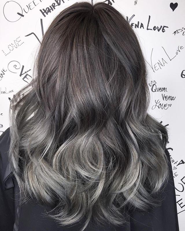 My Beautiful Ash Steel Grey Hair Painting Base Color Tone