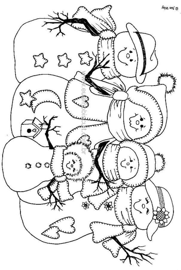 Image result for snowman with bells for coloring pages | Winter ...