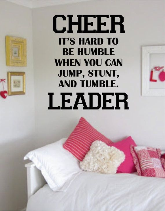 Cheerleader Its Hard To Be Humble Quote Decal Sticker Wall