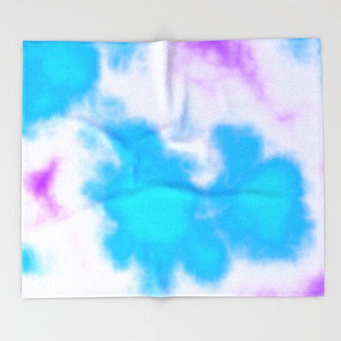 Splattered Sky Throw Blanket