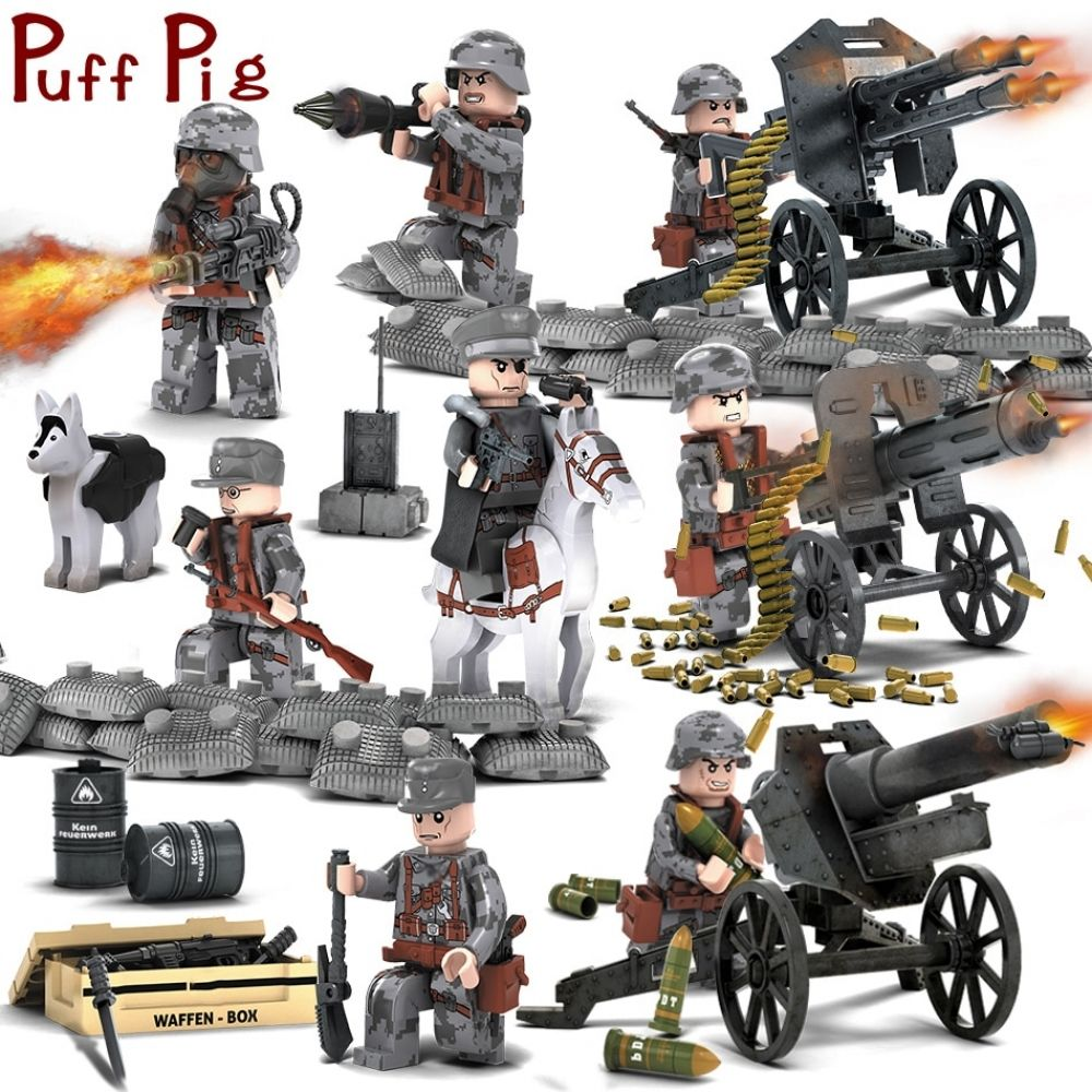 8pcs//set Cute Boys Building Blocks Bricks Models Assembled Educational Toys