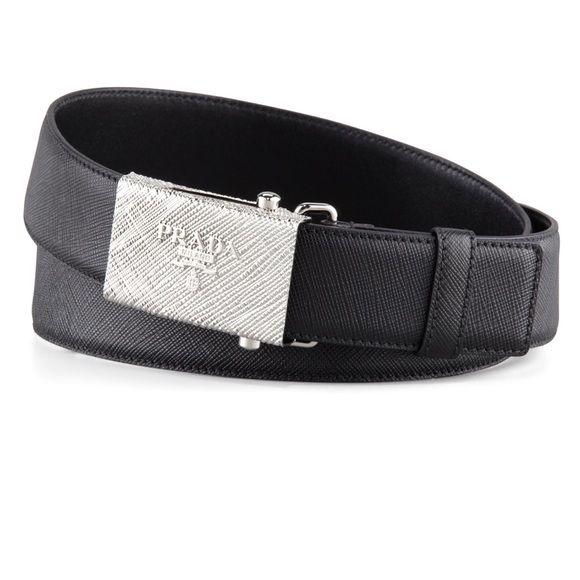 33c6304d02a7c Authentic Prada Belt Brand New Prada Belt. Black with silver textured  buckle. NWT!!!! Euro size 95. Prada Accessories Belts