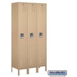 Buying - Salsbury Industries 61365TN-A Standard Metal Locker - Single Tier - 3 Wide - 6 Feet High - 15 Inches Deep - Tan - Assembled - LOCKERS