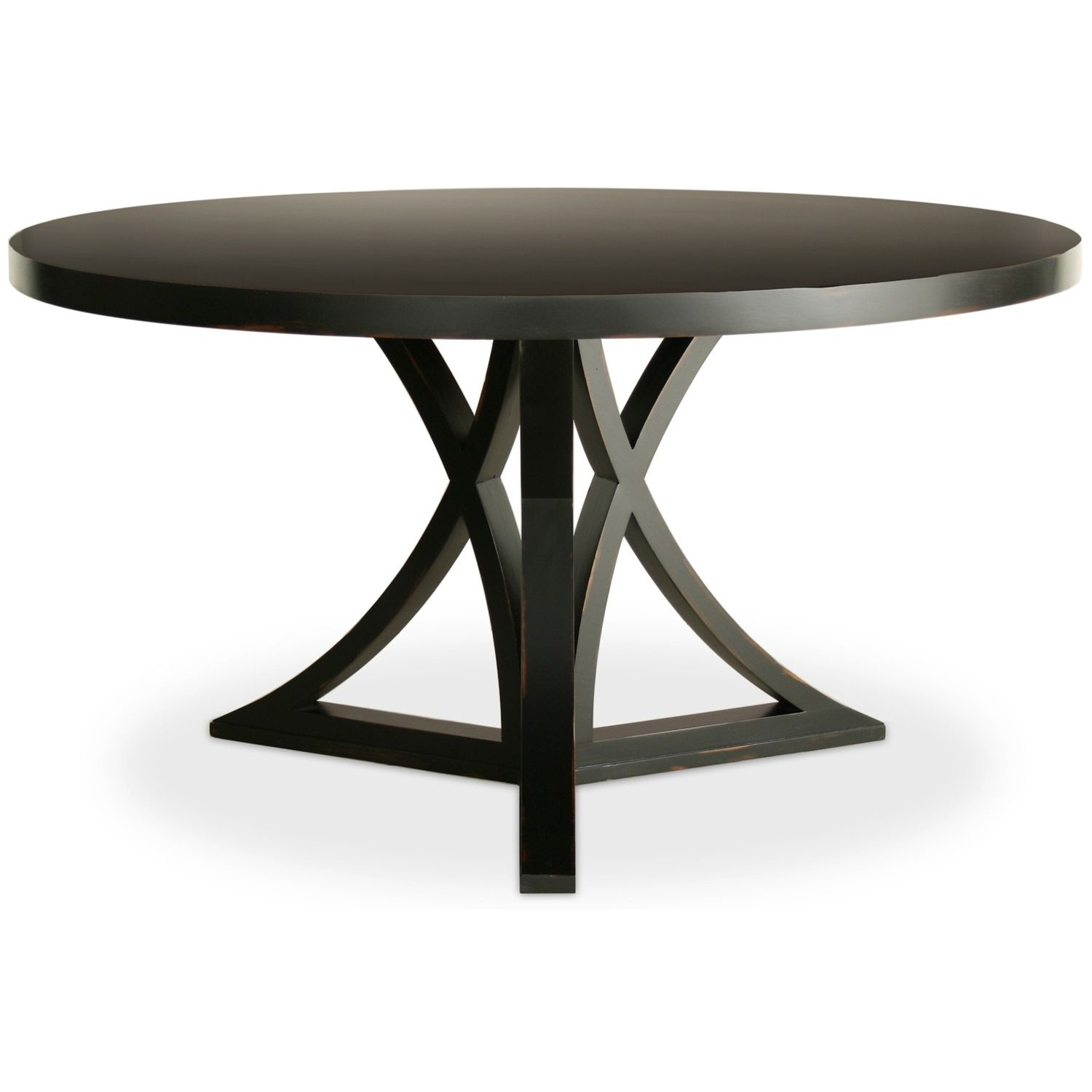 Black Round Pedestal Dining Table With Leaf