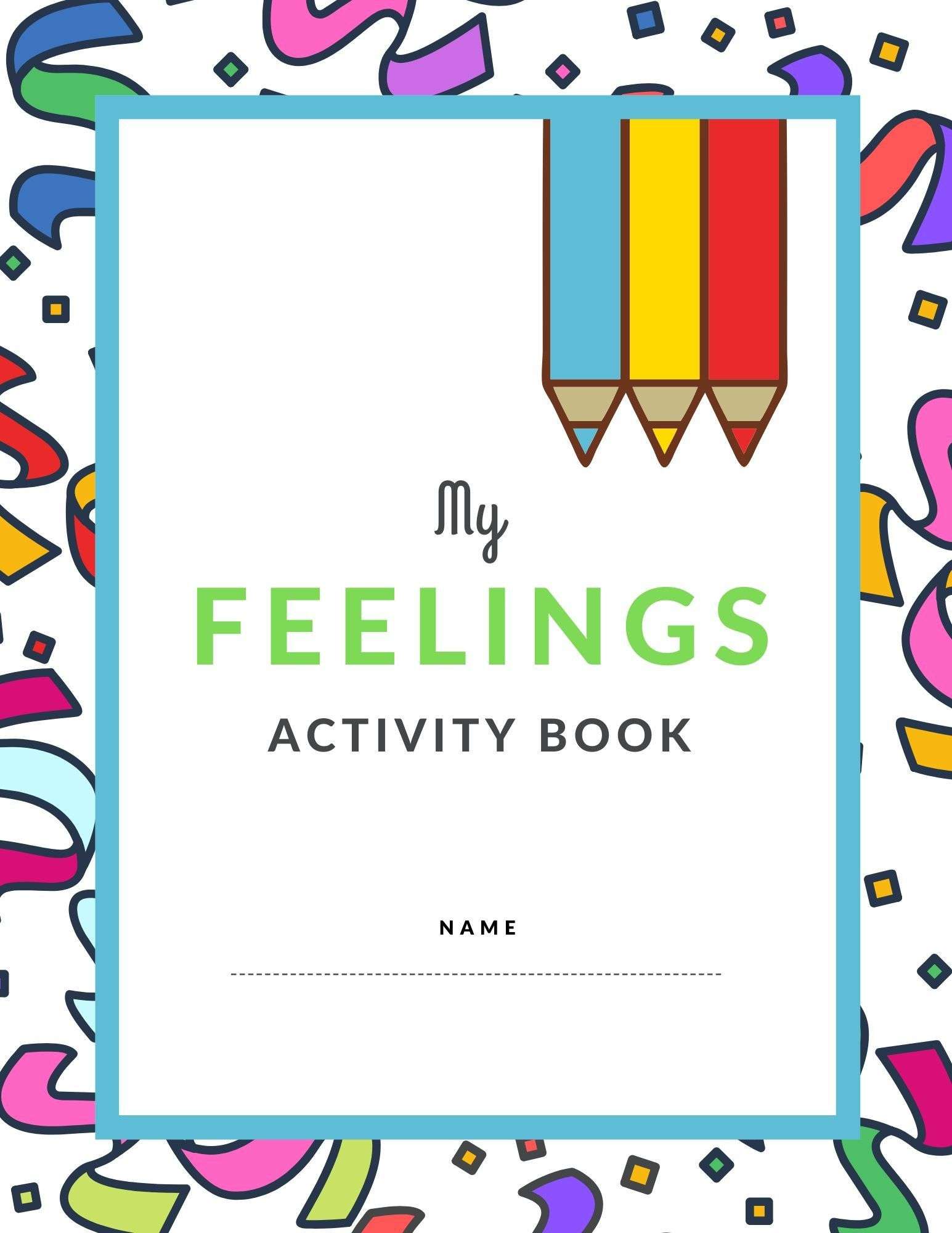 Children Kids Coloring Activity Book Feelings Emotions
