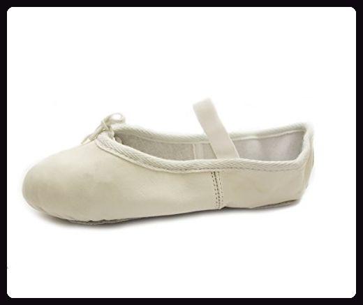 Klassischer Leder Ballett Schuh Weiss EU 37.5 UK 4.5