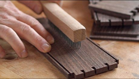 On His Wenge Tea Box Mike Pekovich Reaches For A Tool Not Normally