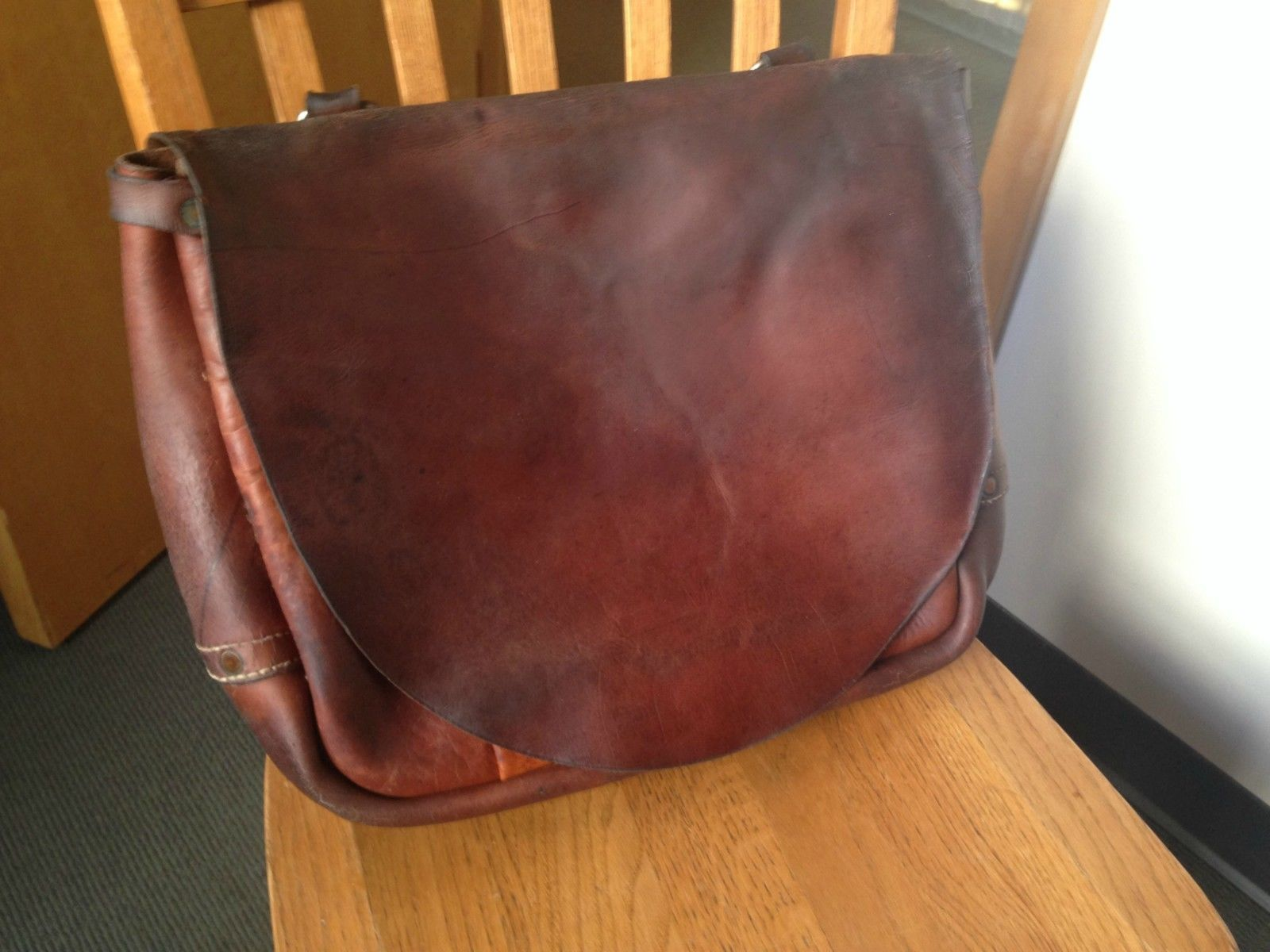 eaafda288ee Leather Postal Service Mail Bag Satchel by Bucheimer