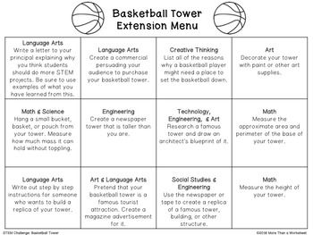 Free STEM Challenge: Basketball Tower | Science | Pinterest ...