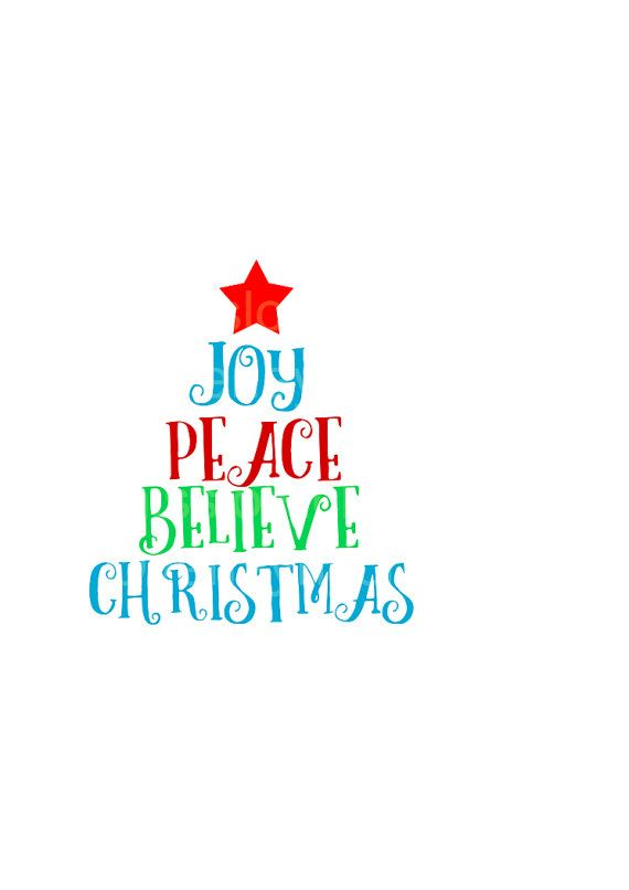 Download Peace Love Joy Christmas Tree SVG DFX Cricut cameo ...