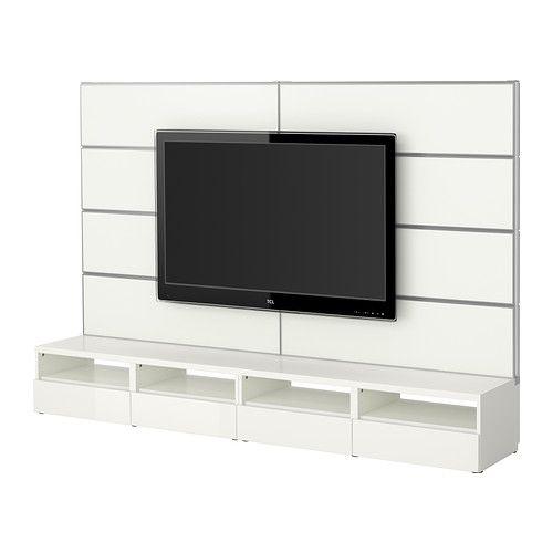 BESTÅ/FRAMSTÅ Mueble TV combinación - blanco/gris turquesa - IKEA ...