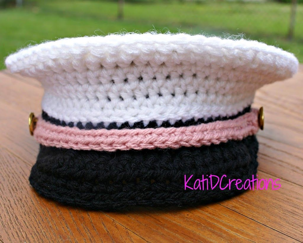 Crochet Military Inspired Hat – Free Pattern | KatiDCreations | Hats ...
