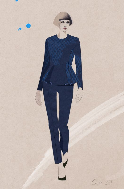 Fashion illustration, water colour by Cecilia Carlstedt #fashion #illustration