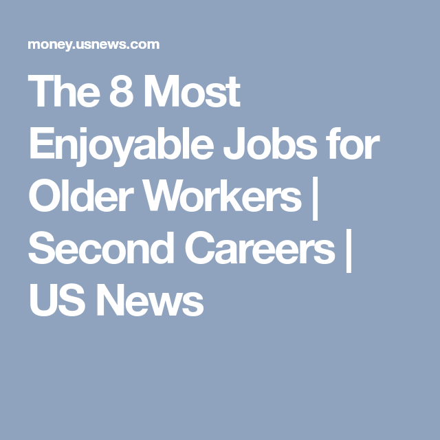 jobs for older workers
