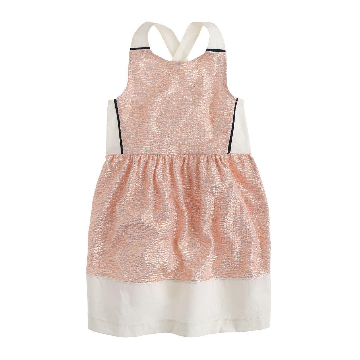 d9582da5c6c crewcuts Girls Metallic Cross-Back Dress (Size 16 Kid)