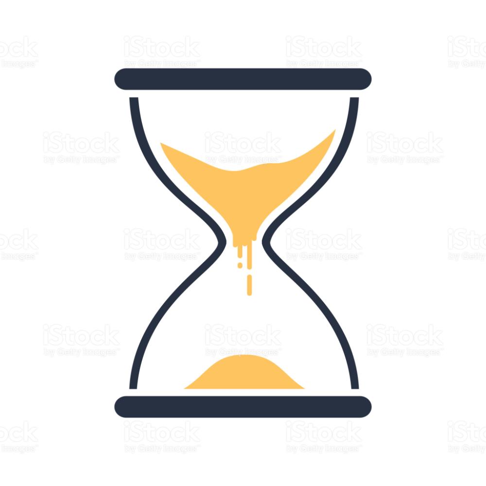 Hour Glass Sign Transparent Sandglass Icon Time Hourglass Glass Sign Hourglass Free Vector Art