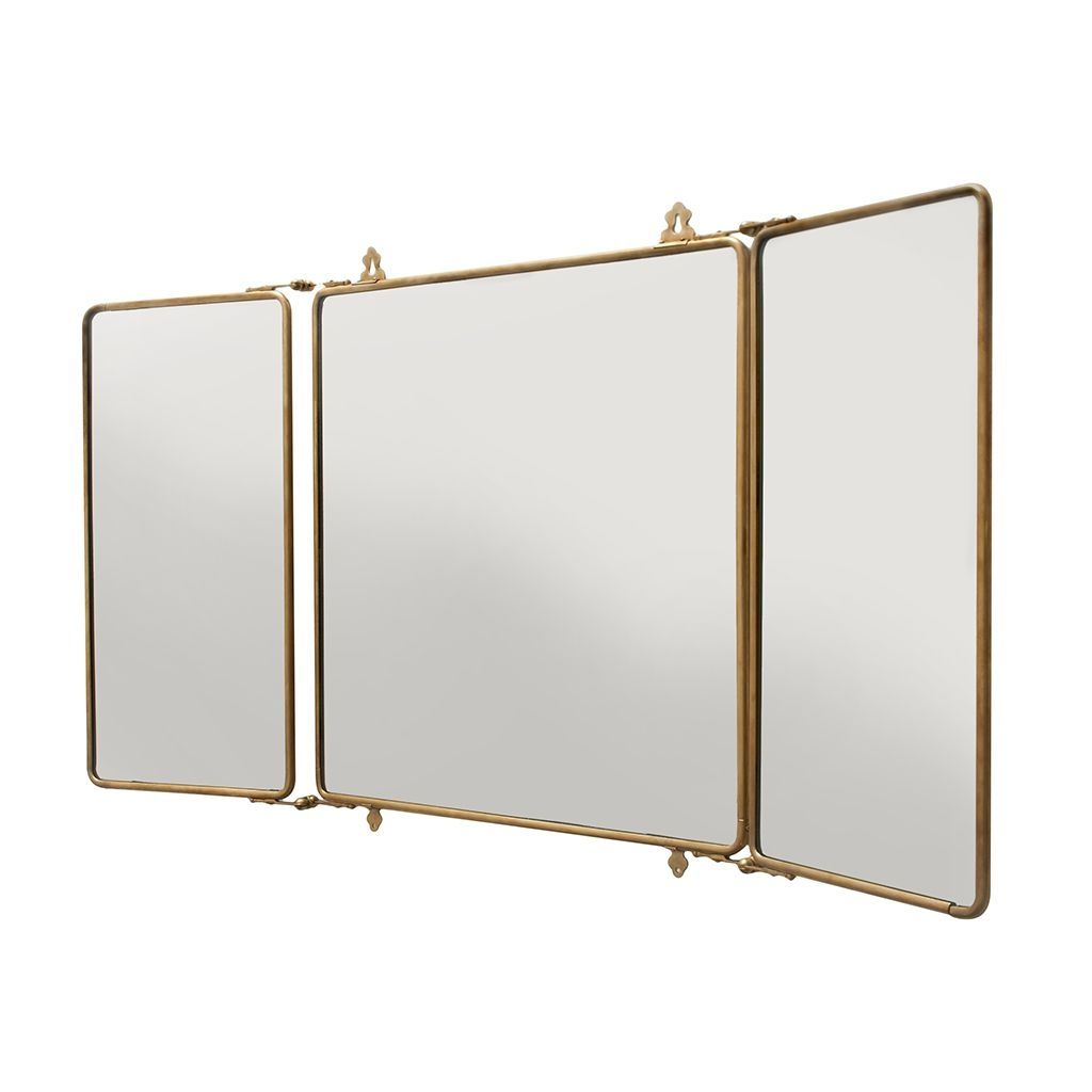 Tri fold wall mounted mirror drrw pinterest wall