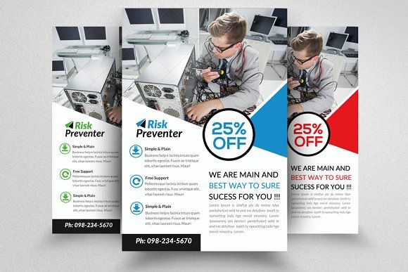 Computer Repair Flyer By Design Up On Creativemarket  Awesome