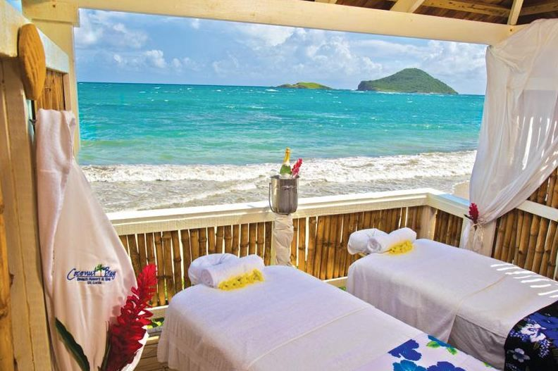 Coconut Bay Resort & #Spa St. Lucia- the perfect sea front setting! #Caribbean. Who would you love to be there with?
