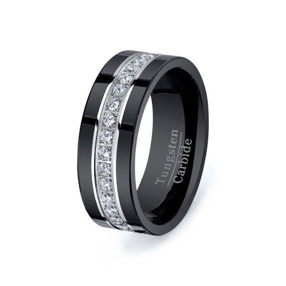Diamond For Mens Wedding Bandsblack