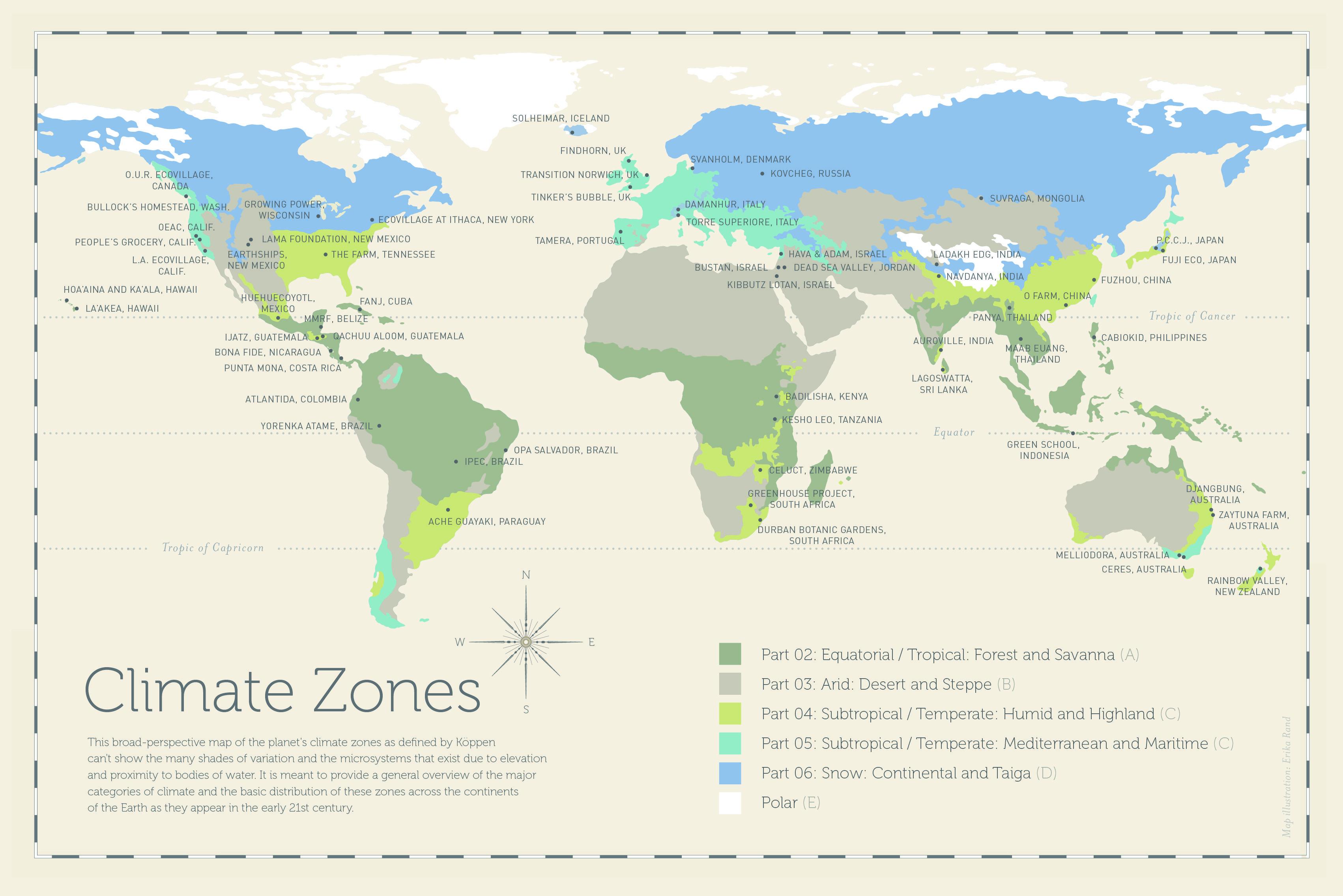 ClimateZonesMAPREVISEDjpg Vernacular - Climate world map