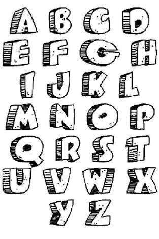 Resultado De Imagem Para Easy Graffiti Letters Alphabet Graff