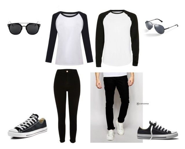"""""""matching again"""" by chaimae-megherbi on Polyvore featuring mode, Bellfield, Converse, Topman et GUESS"""