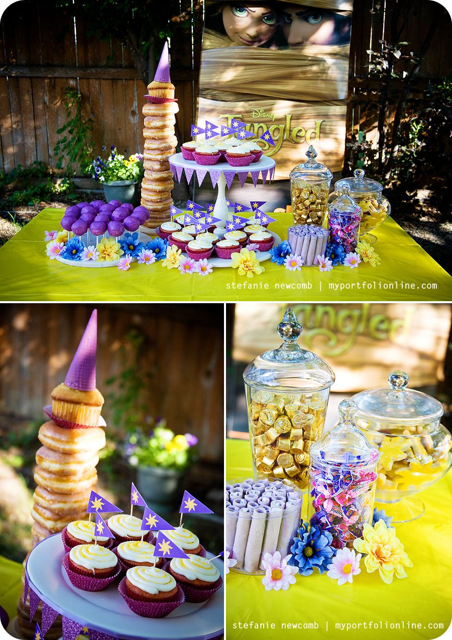 Rapunzel Tangled Birthday Party of the Month Way to go Stephanie