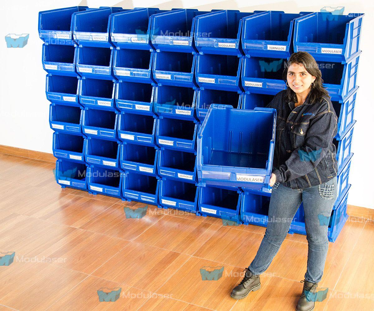 Cajas pl sticas abiertas ideales para realizar picking - Cajas de plastico para almacenar ...