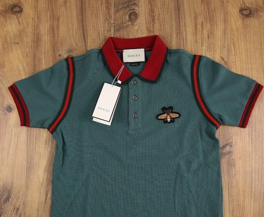 f49e46b955f GUCCI T SHIRT POLO GREEN OLIVE BUG ON CHEST AUTHENTIC M SIZE MADE IN ITALY   fashion  clothing  shoes  accessories  mensclothing  shirts (ebay link)