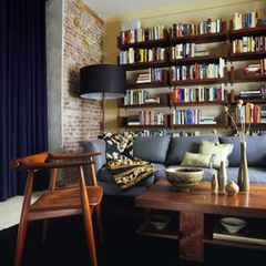bricks and bookshelves