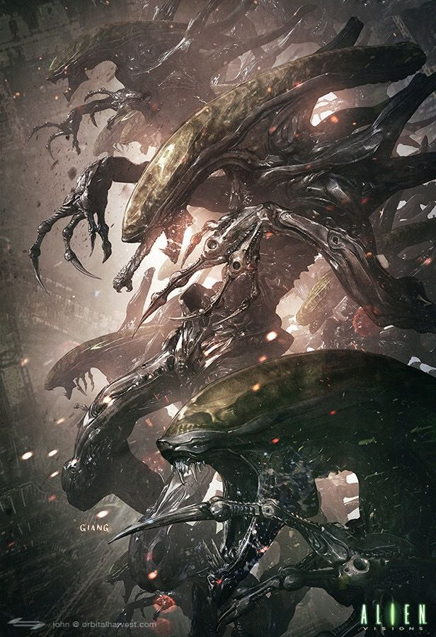 Stunning #Alien artwork by John Giang for the Alien Visions book https://www.artstation.com/artwork/VNOG5