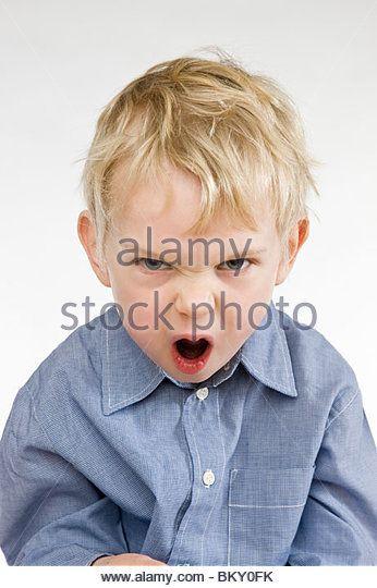toddler angry boy screaming stock image jy is nou nie lekker