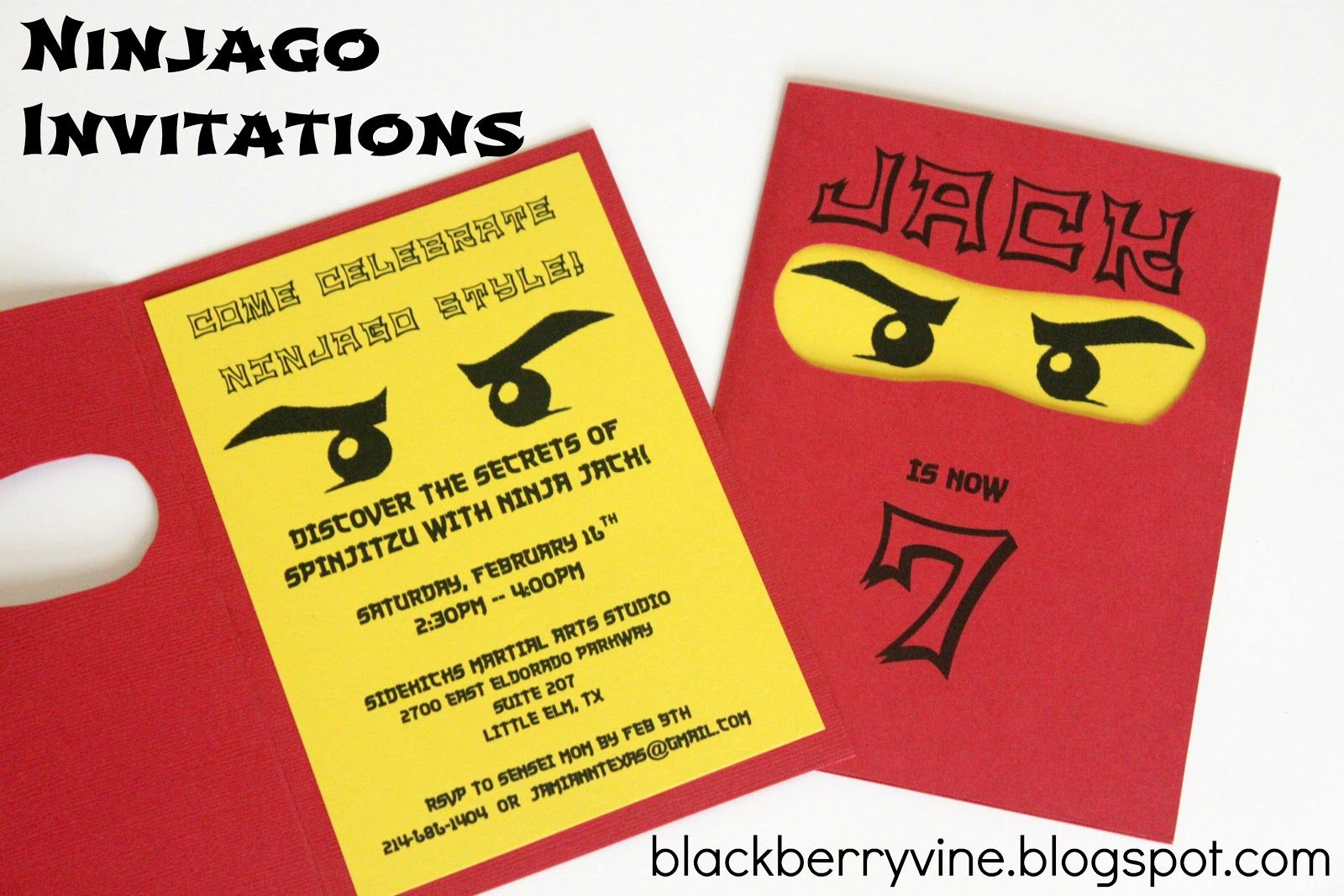 Lego ninjago Party invitations and Lego – Ninjago Party Invitations