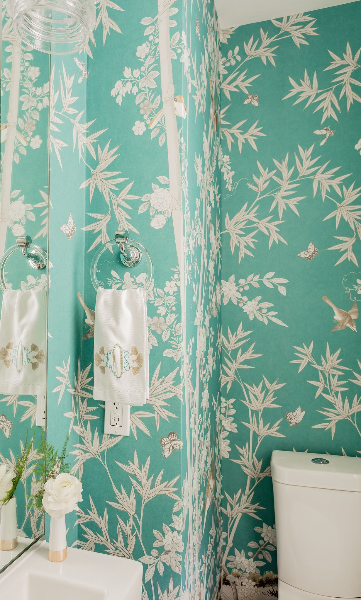 10 Interior Design Secrets Only The Pros Know Powder Room Wallpaper Interior Design Secrets Bathroom Wallpaper