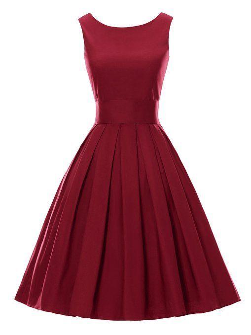 Luouse Sommer Damen Ohne Arm Kleid Dress Vintage petticoat kleid Junger  abendkleid | Kleider | Pinterest | Arms, Amazon and Vintage